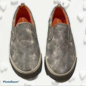 Old Navy Slip On Grey Smoke Tie Dye Sneakers